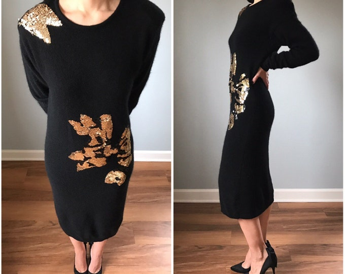 Vintage Lambswool Sequin Sweater Dress