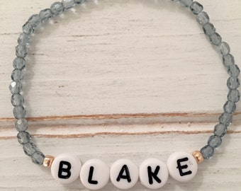 Custom name beaded bracelet; name bracelet; friendship bracelet