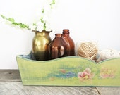 Long Wood Tray - Soft Green - Modern Country Chic - Organization