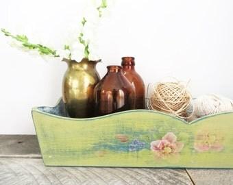 Long Wood Tray - Soft Green - Modern Country Chic - Organization