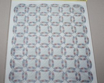 """Brodnax 100Q Double Wedding Ring Quilt Raised Patterns Miniature Doll House 1"""" Scale New"""