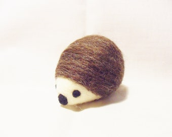 Needle Felted Hedgehog -  miniature hedgehog figure - Merino & Corriedale wool - wool felt hedgehog
