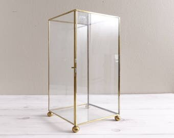 Vintage Glass Display Box Curio Terrarium