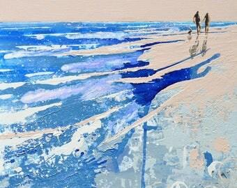"COASTAL DECOR BEACH - ""Where the sand meets the sea, Nantucket"" by Melanie McDonald - Nantucket Island - coastal wall art - beach art prints"
