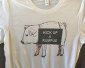 gilmore girls tshirt, petals pig, kick up a rumpus