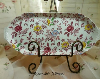 Empire Chintz Tray  - Stoke on Trent - England - Vintage - Floral  Collectible Numbered