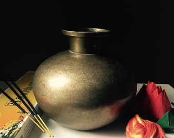 Vintage Brass Kalash Lota Brass Pot Holy Water Indian Hindu Spirituality