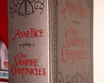 Signed Anne Rice The Vampire Chronicles 1988 Silver Gilded Collectible Trilogy
