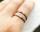 flash sale Bypass Ring,X Ring,Thumb Rings,Double Band Ring,Thumb Ring,Textured Rings,Textured X Ring,Stacking Rings,Minimalist Rings,Unique