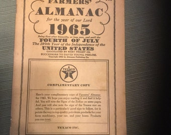 1965 Farmer's Almanac by Texaco