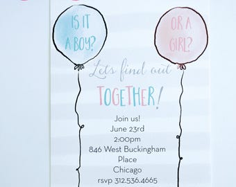 GENDER REVEAL or BABY Shower Invitations