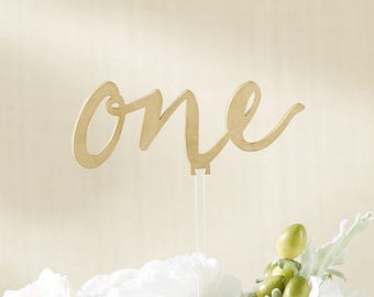 Wedding Table Number Gold Script Cursive Calligraphy Table Numbers Gold Cake Topppers Birthday Elegant Reusable Table Numbers 1-18