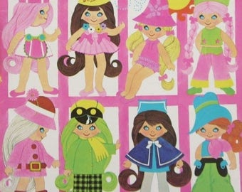 FLATSY Doll Coloring Book UNUSED