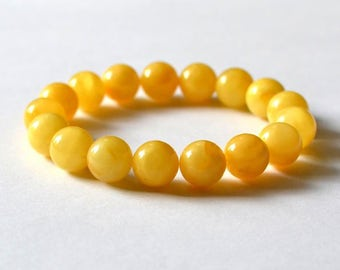 Genuine Baltic Amber Bracelet Butterscotch Egg Yolk Color Gold Amber Bracelet