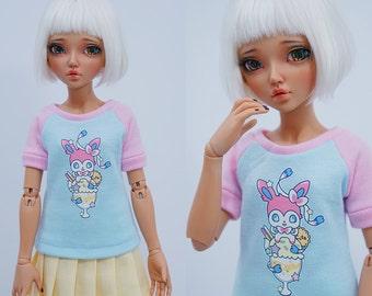 Slim MSD Minifee or SD BJD Shirt - Sylveon and Parfait
