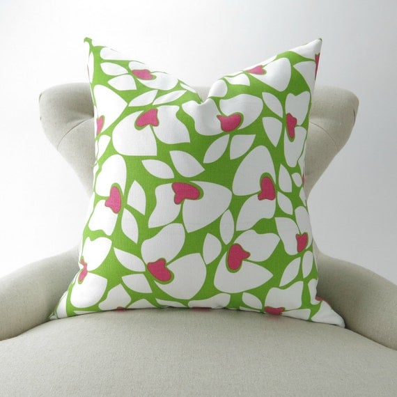 Lime Green Pillow Cover Throw Pillow Accent Pillow