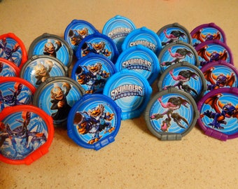 24 Skylander  Cupcake, Cake Topper Rings Party Supply