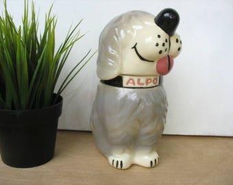 Vintage Alpo Sheep Dog McCoy Doggie Treat Jar Dan The Dog Biscuit Jar Made In USA