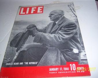Jan 17, 1944 Life Charles Beard and The Republic Magazine