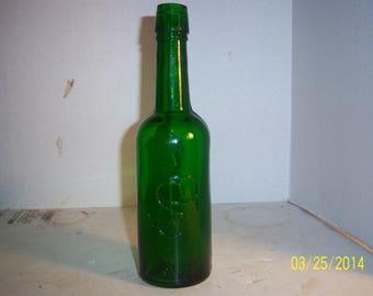 1880's JSP (Joseph S Pedersen Emerald Green Malt Liquor  Bottle
