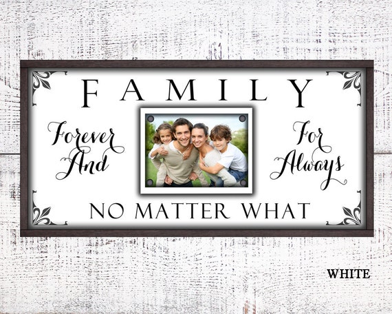 12x24 Picture Frame, Family Forever For Always, Photo