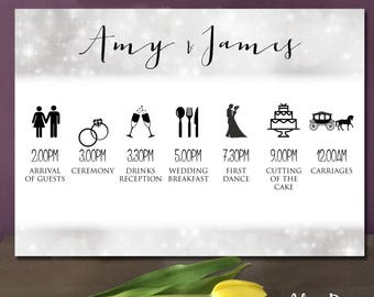 Script Wedding Itinery A2