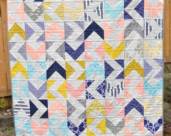 Floral Whimsy Modern Lap Quilt