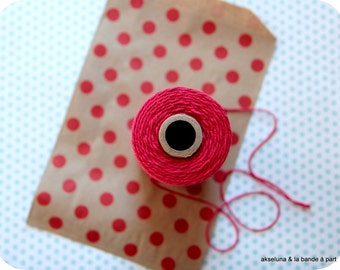 Thin cotton string Baker Twine * Red * 10 m - special Christmas