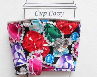Bling Glitter Red Coffee Cup tea cup Cozy