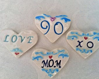 Heart Brooch                                      A Gift For Mom, Personalized For Mom, Love Heart Jewelry, Mothers Day Gift, Love You Mom