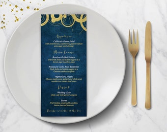 Space and Time Wedding Program and Menu