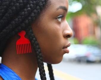 Daufe - Red Afro Comb
