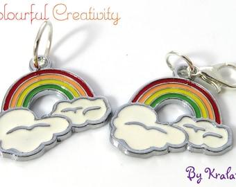 Stitch marker enamel rainbow