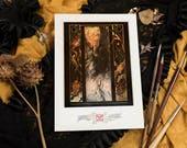 """Tirage d'Art A4 de """"Thanatos"""" (impression HD), signé par estampillage - Conditionné sous blister, protégé par une plaque épaisse."""