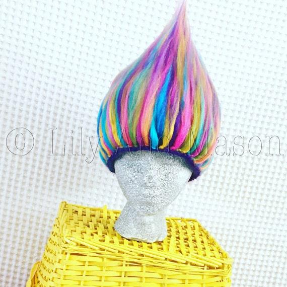 Trolls Knitting Or Crocheting Patterns : Pattern only rainbow troll hair crochet by