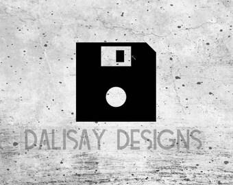 "5.25"" Floppy Disk Vinyl Decal"