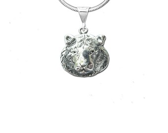 Sterling Silver Tiger  Pendant