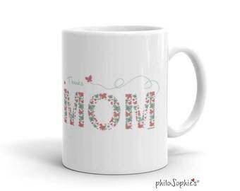 Mothers Day Under 20, Thanks Mom Coffee Mug, Mug For Mothers Day, Inspirational Coffee Mug, Encouragement Tea Mug, Ceramic Thank You Mug