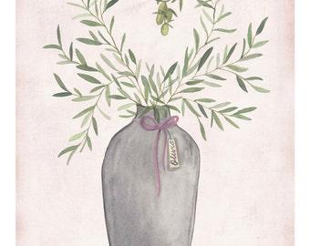 Livi's Olive Branches- art print