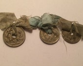 3 antique silvered birth coins 1913-1914