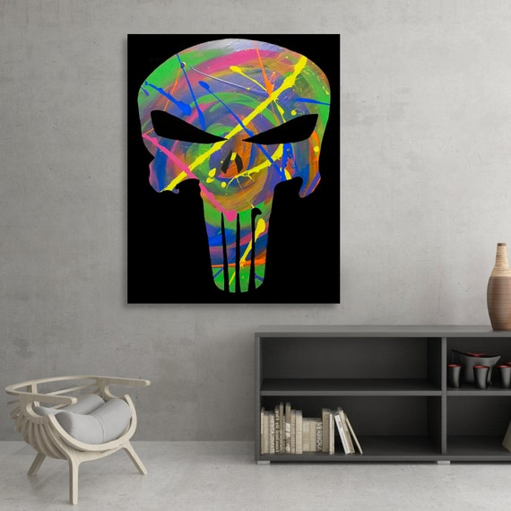 Punisher Acrylic Painting Fine Art Poster Print [SIGNED]