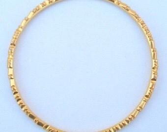 Vintage Antique Solid 22 K Old Gold Bracelet Bangle India