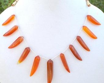 143 Ctw Onyx Gem Stone Necklace Strand Rajasthan India