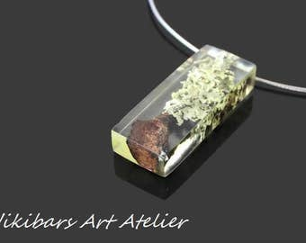 Modernist Resin Necklace, Resin Wood Necklace, Wood Necklace,Abstract Necklace, Art Necklace, Modern Necklace, Gift For Her,OOAK