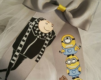 Boutique Gru and His Minions Handpainted Hairbow