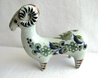 Ken Edwards Mexican Pottery Ram Figurine Vintage El Palomar Folk Art