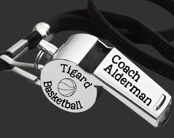 Coach Whistle | Coach Gift | Gift for Coach | Coach Appreciation | Appreciation Gift | Engraved Coach Whistle | Korena Loves