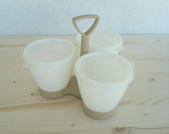 Vintage Tupperware Condiment Caddy With Lids