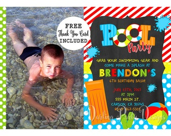 Pool Invitation, Pool Party Invite, Pool Party Invitation, Pool Party, Pool Invitation, Pool Invite, Pool Birthday Party Invitation,