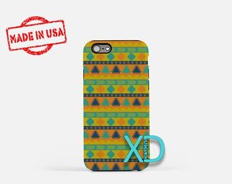 Tribal Aztec Phone Case, Tribal Aztec iPhone Case, Triangle iPhone 7 Case, Yellow, Triangle iPhone 8 Case, Aztec Tough Case, Clear Case